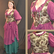 Brown Floral Tapestry Bodice