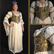 Grape Leaves Bodice
