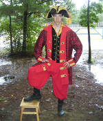 Mens Pirate Coat Red and Black