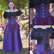 Purple Satin Underbust Corset