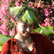 Shades of Greens and Browns Fairy Hat