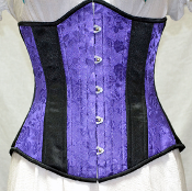 Purple Satin Brocade Underbust Corset