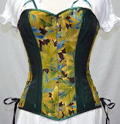 Spring Leaves Overbust Corset